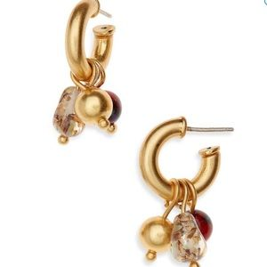 Madewell charm hoop earrings